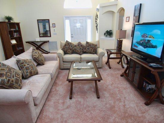 Living Area - WNH3P15751BVD 3 Bedroom Holiday Pool Villa with Overlooking View - Orlando - rentals