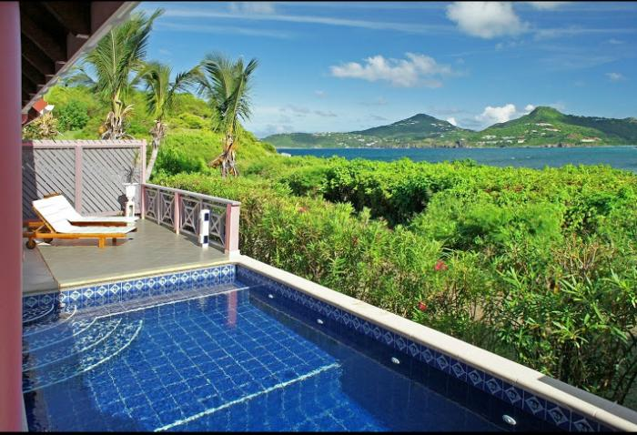 St. Barths Villa 61 Nestled In The Lush Vegetation, This Villa Offers A View Of The Caribbean Sea. - Image 1 - Anse Des Cayes - rentals
