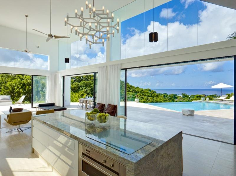 View from the kitchen - FREE NIGHT contemporary design, dramatic sea views - Saint James - rentals