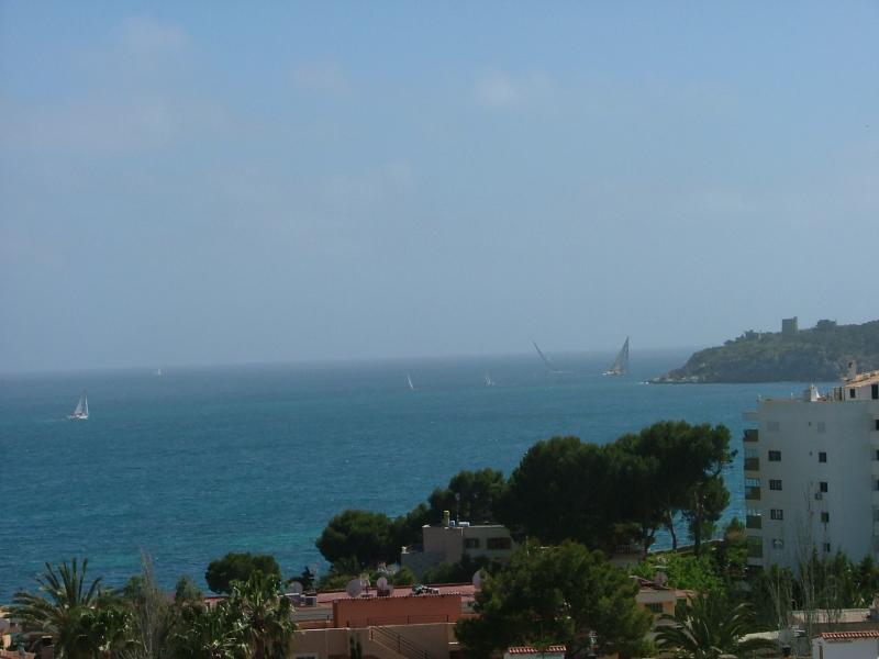 View from terrace - Sea views, 120m2 terrace, air con, double glazing - Palma Nova - rentals