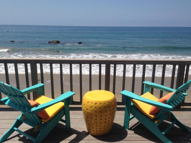 Upper deck - Malibu Oceanfront 3bd/2ba on the SAND! - Malibu - rentals