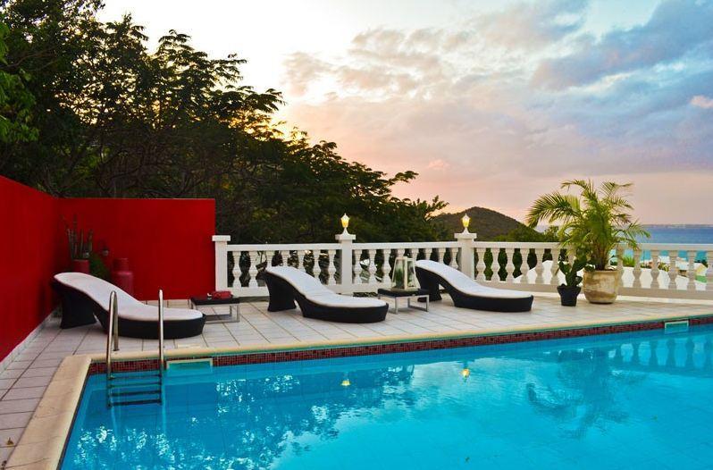 La Petite Fleur, Anse Marcel, St Martin - LA PETITE FLEUR.. A sexy, luxurious private retreat with fabulous views.  A perfect honeymoon villa! - Anse Marcel - rentals