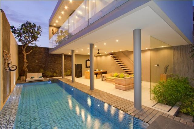 Exterior design and pool - Sandhya Villa, 3 Bedrooms Stunning Villa at Echo Beach - Canggu - rentals