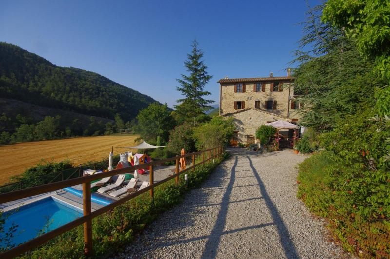 Santa Chiara from the driveway - Beautiful Farmhouse Apartments with Pool - Perugia - rentals