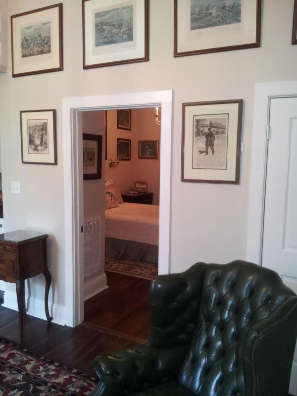 Beautiful 175 year old heart pine floor with gorgeous rugs through out - Ground zero french quarter sexy condo - New Orleans - rentals