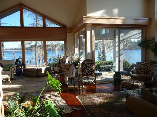 Kitchen view thru informal to formal seating - Waterfront estate on Trent River - New Bern - rentals