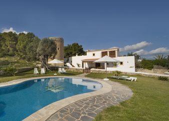 Classic Ibiza villa minutes from Ibiza Town, 9 ppl - Image 1 - Ibiza Town - rentals