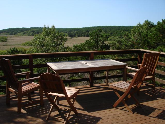 Back deck view overlooking Herring River - Abutting River & Nat'l Seashore Privacy,Internet - Wellfleet - rentals