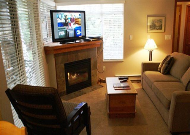 Living room - Stoney Creek Sunpath 8 - Quiet ground floor condo - Whistler - rentals