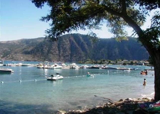 Community sandy beach/boat moorage - Wapato Point Resort Community Waterfront Condo on Lake Chelan - Manson - rentals