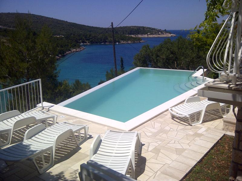 View from the swimming pool terrace - Villa Sonia&Teo, Hvar, Croatia - Hvar - rentals