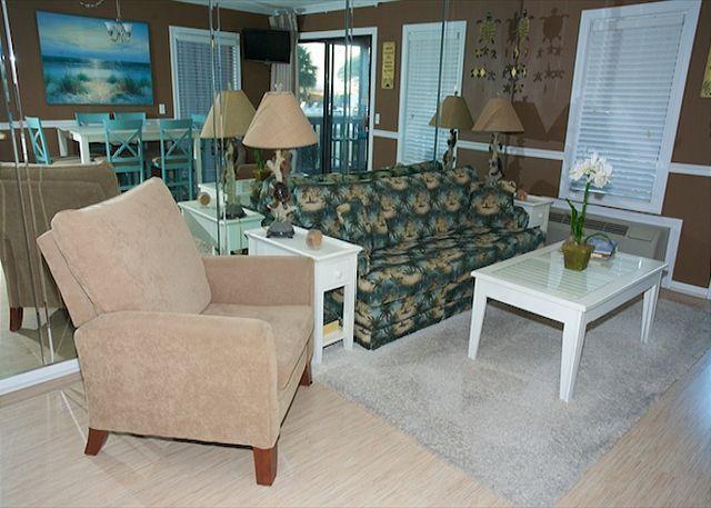 Living Room - Deluxe 2 Bedroom 2 Bathroom Oceanview Condo - Ocean Dunes Villa 104 - Hilton Head - rentals