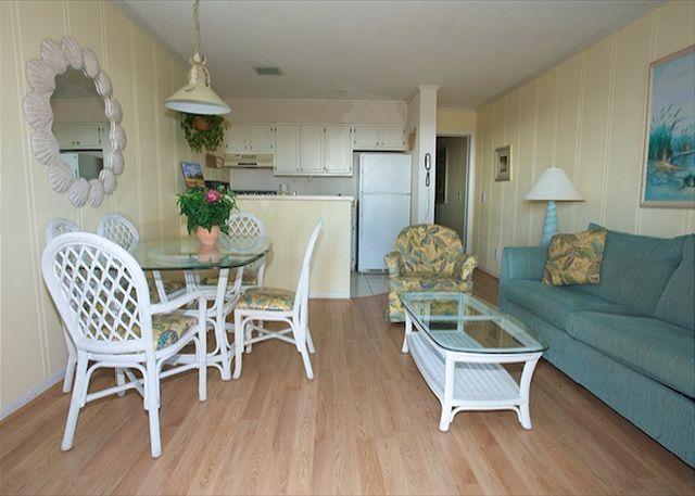 Living Room - Ocean Dunes Villa 116 - 2 Bedroom 2 Bathroom Oceanfront Flat - Hilton Head - rentals