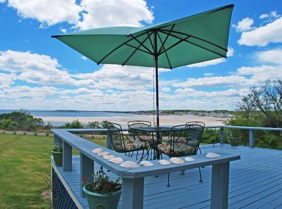 Relaxing Porch with the Ocean Surf Sounds - BLUEBERRY HILL BEACH COTTAGE - Town of Cape Elizabeth - Cape Elizabeth - rentals