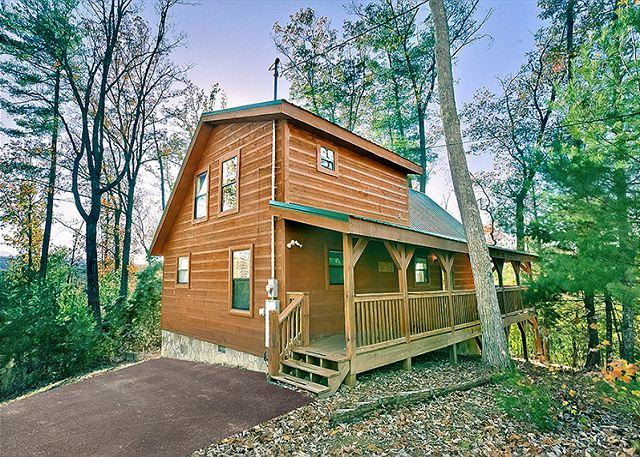 Sunset Ridge #234- Outside View of the Cabin - 2Bedroom Cabin Gatlinburg TN, Games, wifi, hot tub, & more - Sevierville - rentals