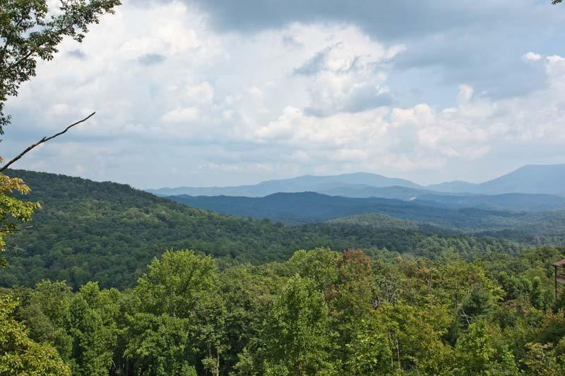 View from the deck overlooking the mountain tops - Above It All - Ellijay GA - Ellijay - rentals