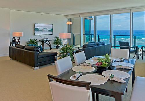 breathtaking aerial view of the Pacific fom your dining table and living room!! - Hokua Panoramic Paradise - Honolulu - rentals