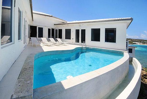 St. Martin Vill 219 Located Cliffside With Direct Waterfront Views Located In A Gated Community In Dawn Beach Estates. - Image 1 - Dawn Beach - rentals