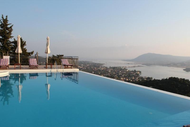 Private 5 bedroom villa with private swimming pool, spectacular views near Lefkada town, near beaches - Image 1 - Lefkas - rentals
