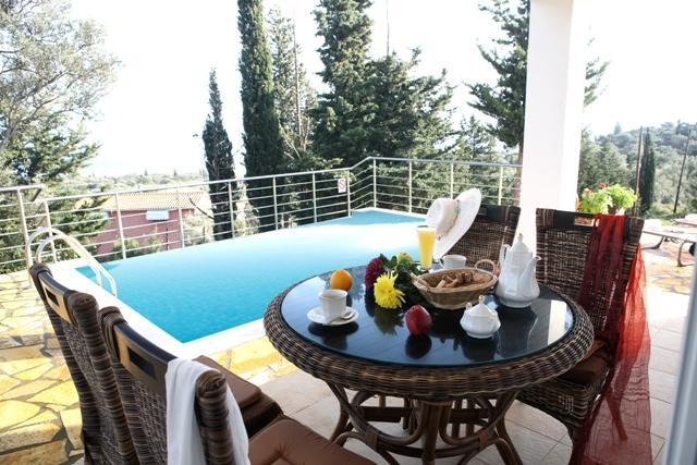 Private villa with private pool, sea views near beaches, Tsoukalades, Lefkas - Image 1 - Vasiliki - rentals
