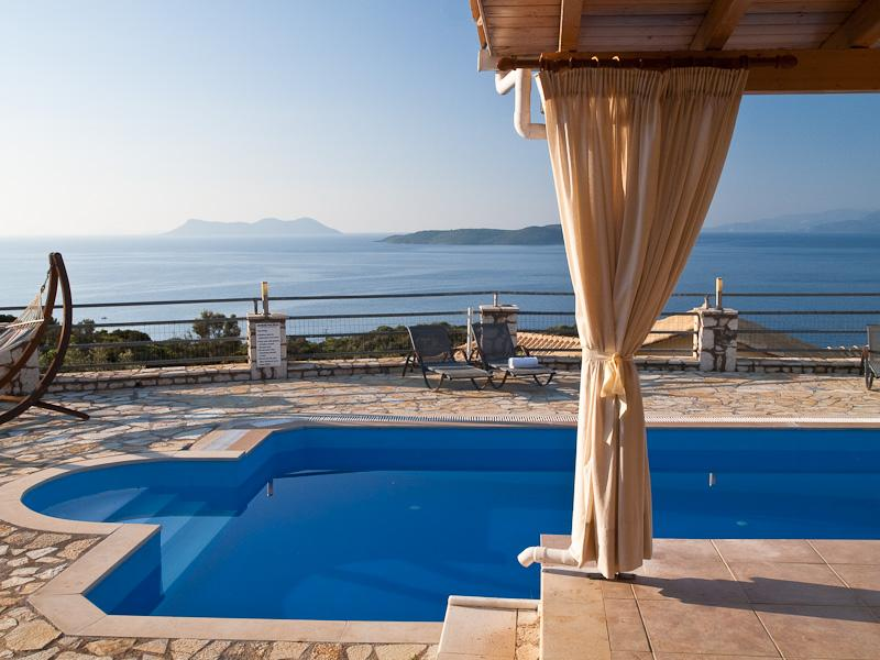 Luxury private villa with swimming pool, garden, sea views, bbq -  Sivota LEFKAS (Special Offer for October CAR included) - Image 1 - Vasiliki - rentals
