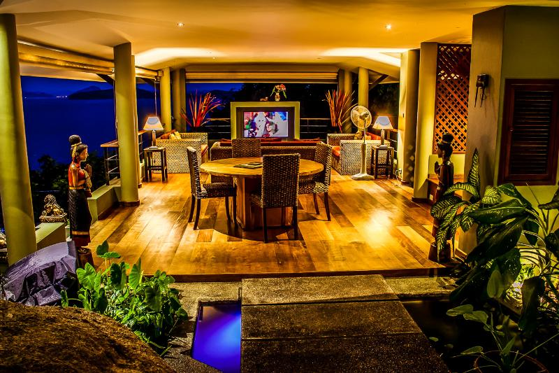Tropical style sitting room with stunning ocean views - Brand New, Ocean View, Spectacular 2 Bedroom Villa - Koh Samui - rentals