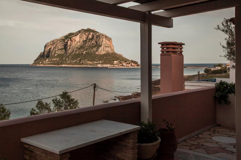 View of Monemvasia Rock from the balcony - Superior Studio with large balcony with sea view - Monemvasia - rentals