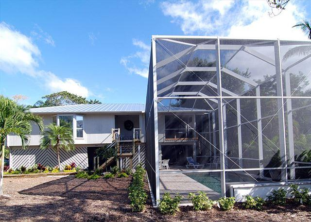 Exterior - Stilted home with pool near the beach - Sanibel Island - rentals
