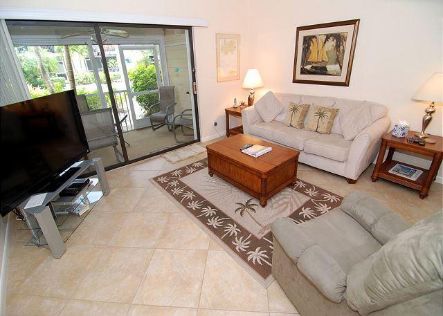 Living Room - Ground level condo at Villa Sanibel - Sanibel Island - rentals
