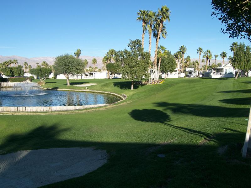 View From Lot - Rancho Casa Blanca RV Resort ( RV Slab Only ) - Indio - rentals