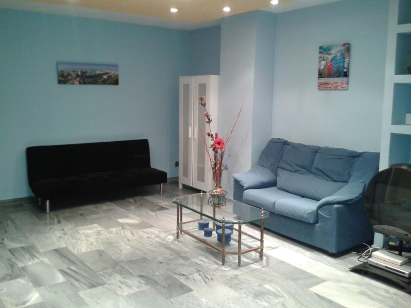 Living room - Flat with terrace in Malaga - Malaga - rentals