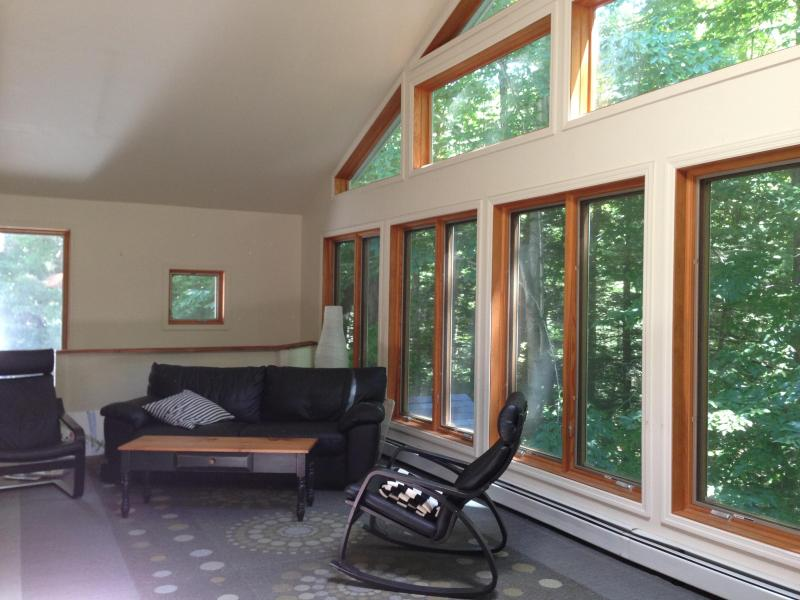 Gorgeous forest views, leather furniture - Amazing forest view in 3BD Catskills A-frame house - West Shokan - rentals