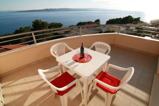 Terrace - Apartments Ulix Brela (4+2) - Brela - rentals