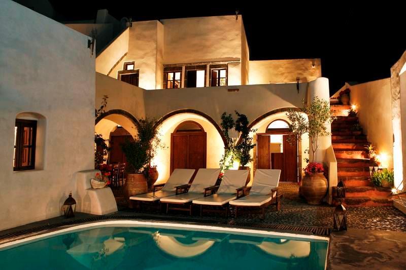 Exterior - Blue Villas | Mansion 1878| Traditional villa - Megalochori - rentals