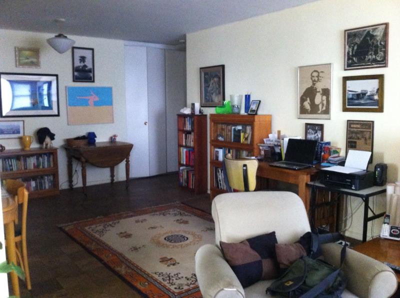 Living room towards Entrance - Heart of Midtown: Sun, views, space, convenience, the perfect 1 bedroom for your Manhattan stay! - New York City - rentals