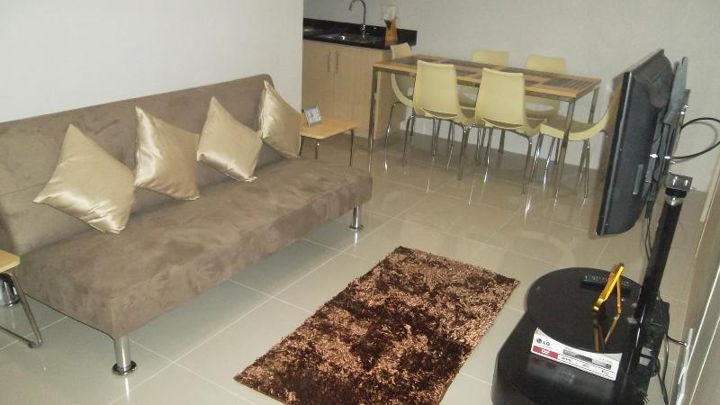 Living Room - 2 BR Grass Residence Condominium - Quezon City - rentals
