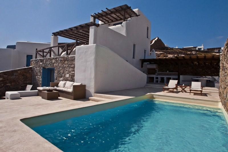 Family Pool Villa II - 200m from a sandy beach - Image 1 - Panormos - rentals