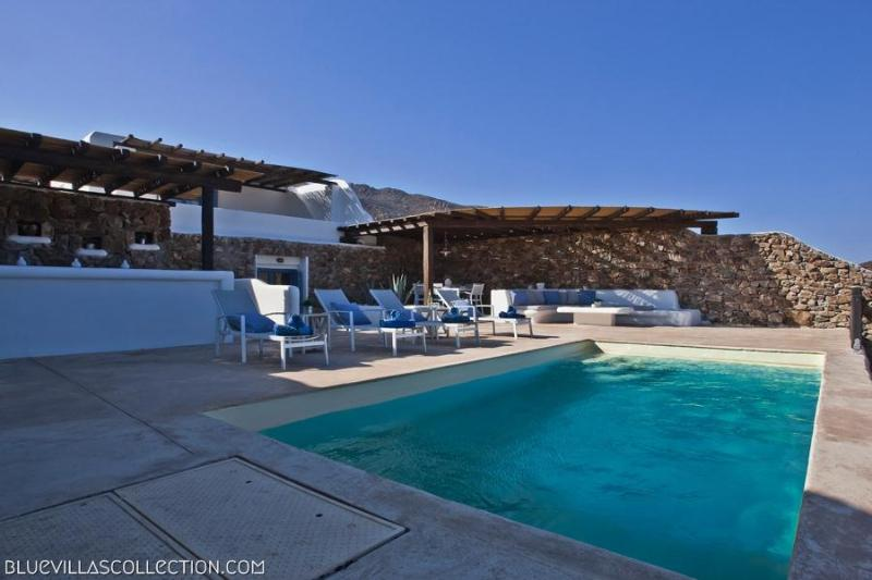 Family Pool Villa I - 200m from the beach - Image 1 - Panormos - rentals