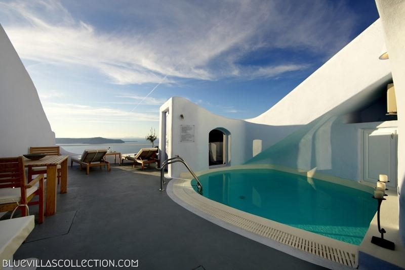 Outdoor private pool - Blue Villas | Cave Suite | Minimalist style - Firostefani - rentals