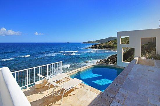 Spectacular view from the terrace and pool - Villa Ella *Dawn Beach* - Philipsburg - rentals