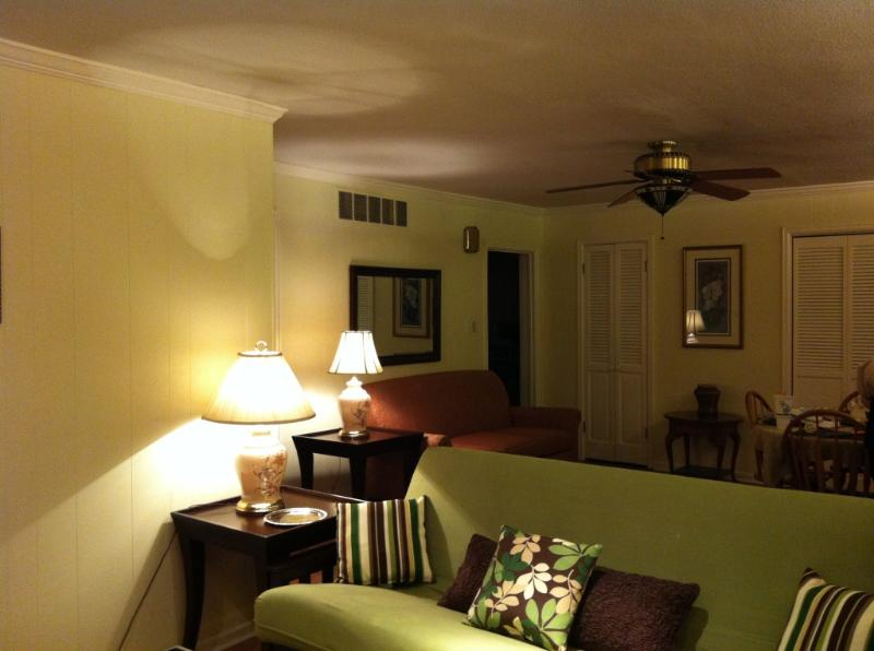 Living room and dining room view - Beautiful Memphis Central Gardens Apartment - Memphis - rentals