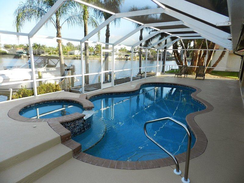 Key Largo - 3 Bedrooms, Heated Pool and Spa, Gulf Access, Wifi HS - Remodeled 2012 - Image 1 - Cape Coral - rentals