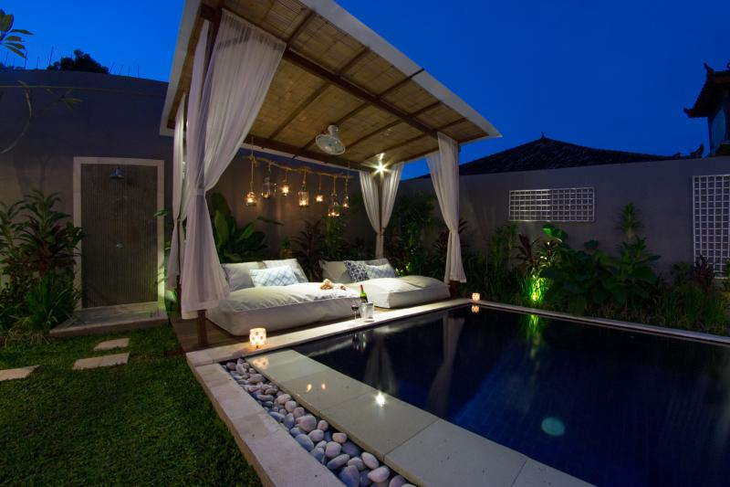 Gazebo at night - UMALAS RETREAT I - 3 Bed Pool Villa w/ Chef - Seminyak - rentals