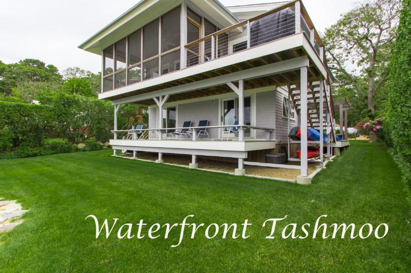 Completely Renovated Waterfront Side of House, Screened and Open Porches - HOMAR - Gorgeous Waterfront home and Separate Guest House,  Specatular Waterviews and Sunsets - Vineyard Haven - rentals