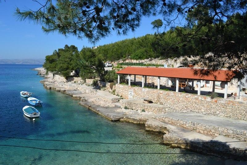 terrace in front of house - Apartment by the sea, Hvar bay - Hvar - rentals