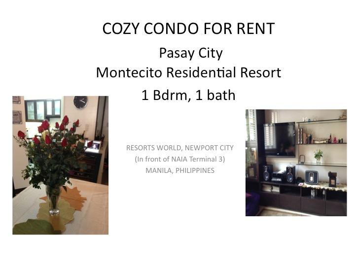 Condo at  Resorts World, Pasay, Manila Philippines - Image 1 - Pasay - rentals