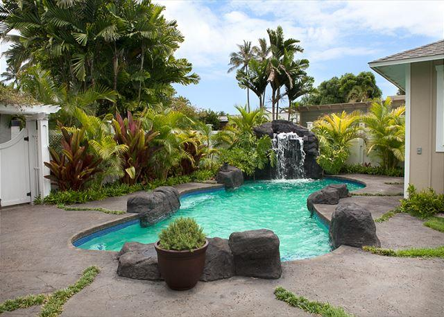 Private Pool & Waterfall - Luxury private home with the convenience of Kailua Beach just steps away. - Kailua - rentals