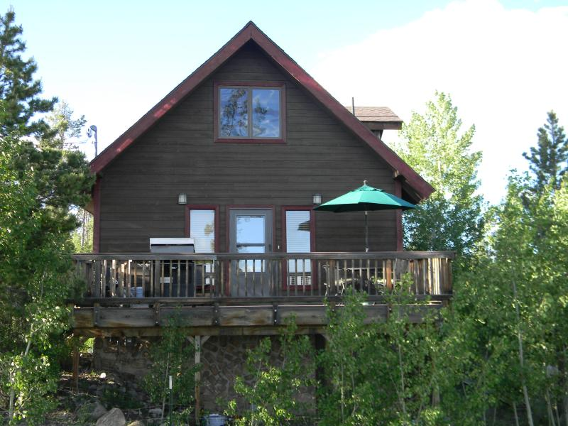 Front of the house facing the lake - Grand View of lake Granby and the mountains - Grand Lake - rentals