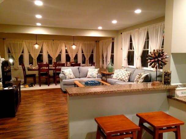 Hallway looking into kitchen and living room - BEAUTIFUL 5 BEDROOM HOME IN FIRE ISLAND! - Ocean Beach - rentals