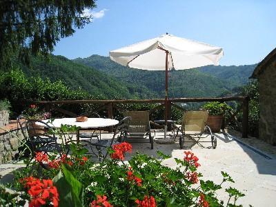 patio - Apartment in beautiful restored farmhouse - Bagni Di Lucca - rentals